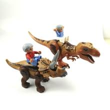 Jurassic Dinosaur World Park Figures Compatible With Duplo Tyrannosaurs Rex Building Blocks Dinosaur Toys For Children цены