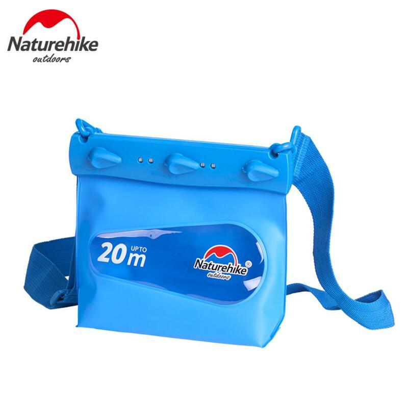 Naturehike Multifunctional Mobile Phone Waterproof Bag Ultralight Beach Drifting Swimming Waterproof Dry Bag Pouch Shoulder Bags