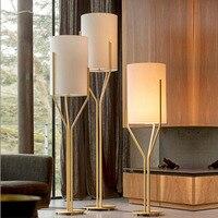 Nordic Post современный минималистский Ткань кованого железа модель комнате клуба спальня исследование торшер светодиодный светильник светоди