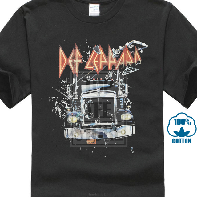 Def Leppard On Through The Night 1980 Adult T Shirt Heavy Metal Music