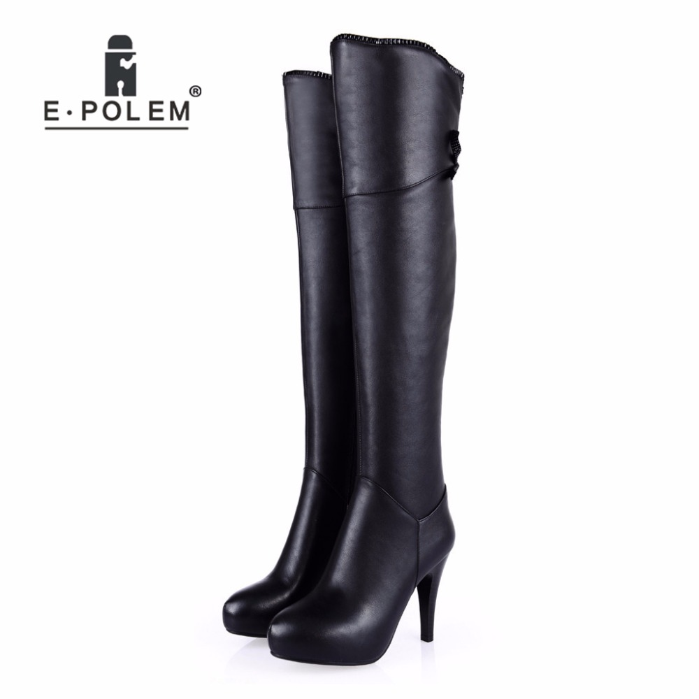 Fashion Female Long Boots Punk Over-the-Knee Patchwork Boots for Women Genuine Leather Round Toe Motorcycle Boots Zipper Boots new arrival superstar genuine leather chelsea boots women round toe solid thick heel runway model nude zipper mid calf boots l63