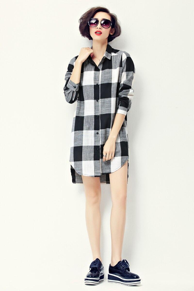 2016 Coco Channel Fashion Korean Style Women Long Sleeve Loose Shirt