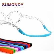 6cb7be7dfc SUMONDY 3 unids/lote niños suave elástico silicona antideslizante gafas  cuerda niños silicona Gel Correa deportes banda cordón s.