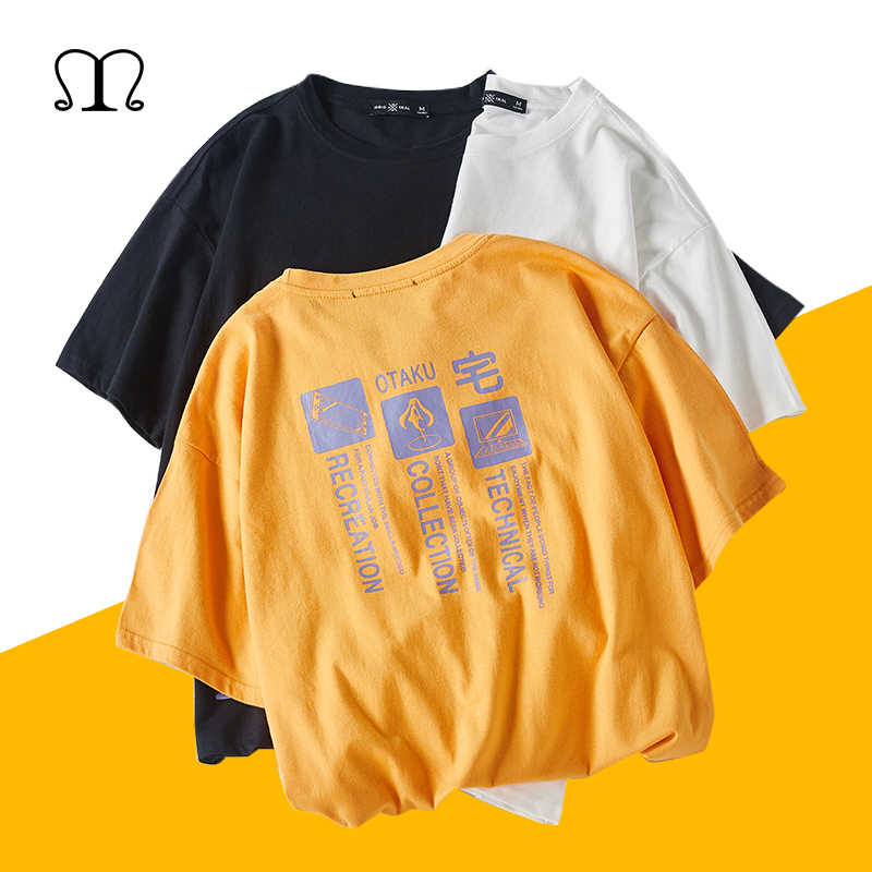 Летние хлопковые футболки, мужские футболки, цветная футболка с принтом, летняя модная повседневная футболка для мужчин и женщин, Свободный Топ, одежда для пар