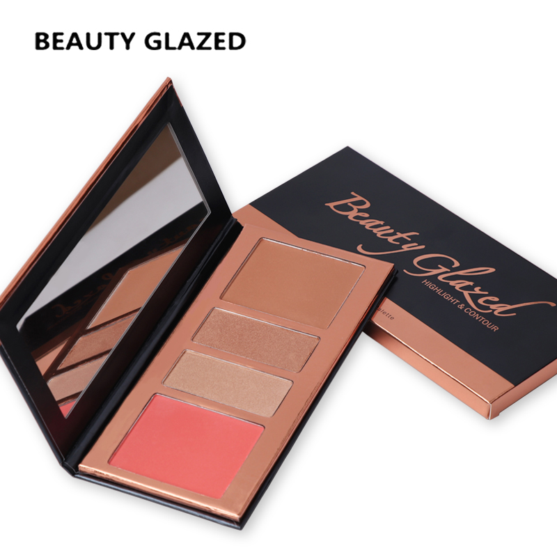 все цены на Beauty Glazed Brand Makeup Highlight Palette Powder Palette Shadow Cosmetics Matte Face Makeup Pressed Pale 4 Colors In 1