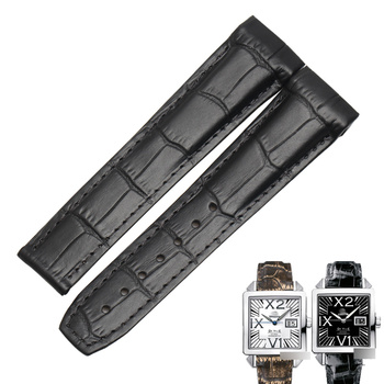 WENTULA watchband for OMEG  CHRONOGRAPH X2 423.53  calf-leather band cow leather Genuine Leather leather strap watch band