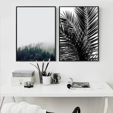 ZeroC Nordic Landscape Canvas Art Print Poster, Palm Wall Paintings for Living Room Decoration Plant Art Picture Home Decor zeroc japanese ink canvas art print poster zen wall paintings for living room decoration home decor