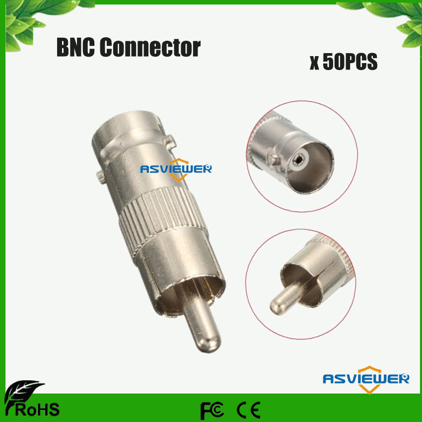 High Performance BNC Connector Female Jack To RCA Male Plug Adapter BNC/F-RCA/M 50pcs/lot
