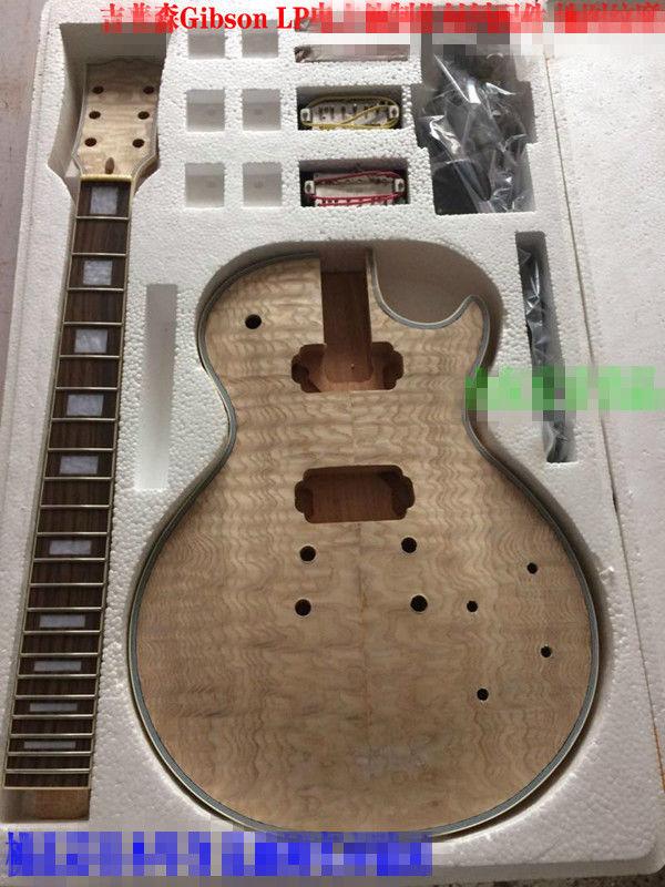 Bricolage guitare électrique Kit unique corps palissandre touche cou pour style LP