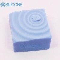 Di alta qualità Del Silicone della muffa 3D Water ripples foglia modello muffa del sapone Fatto A Mano Incenso argilla resina mestiere mol strumento DIY
