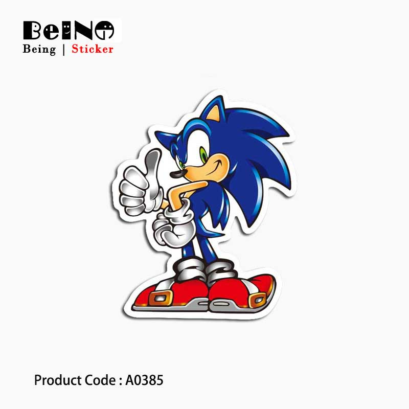 Sonic Hedgehog Game Sticker Mascot Cartoon Waterproof Suitcase Laptop Guitar Luggage Skateboard Toy Lovely A0385 Stickers QY32