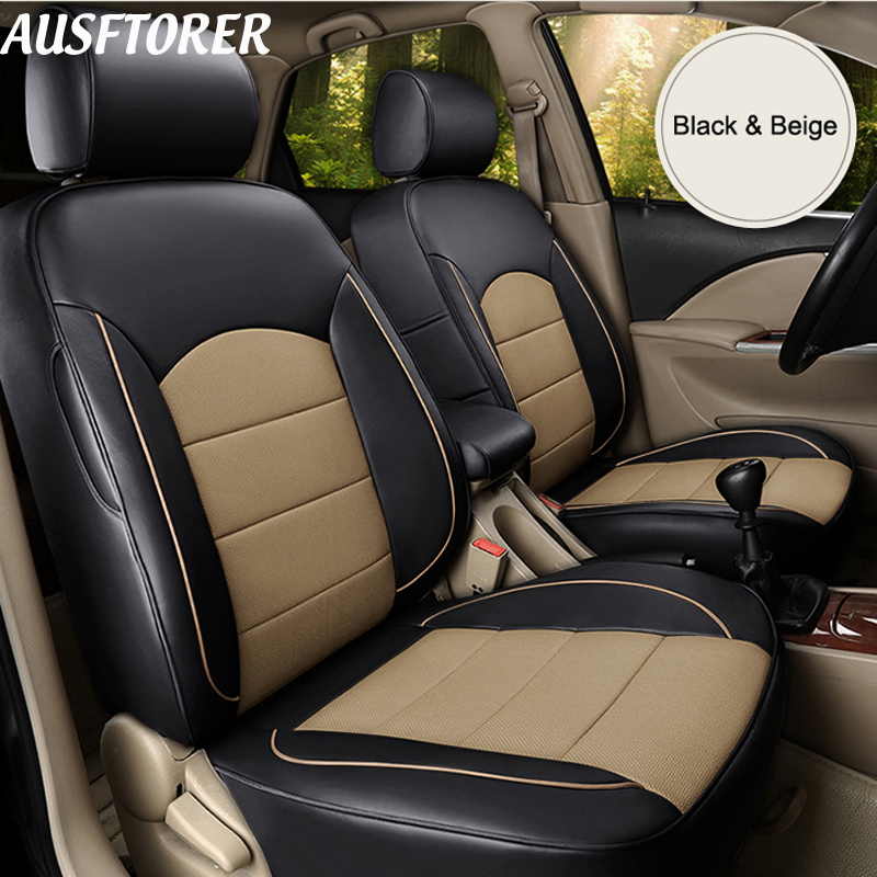 2017 Nissan Murano Exterior: AUSFTORER Cowhide Leather Automobiles Seat Cover For