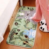 50x120cm High Quality Cartoon Totoro Mats Ultrafine Coral Fleece Cute Door Mat Carpet Tapetes De Sala Tapete Infantil Doormat