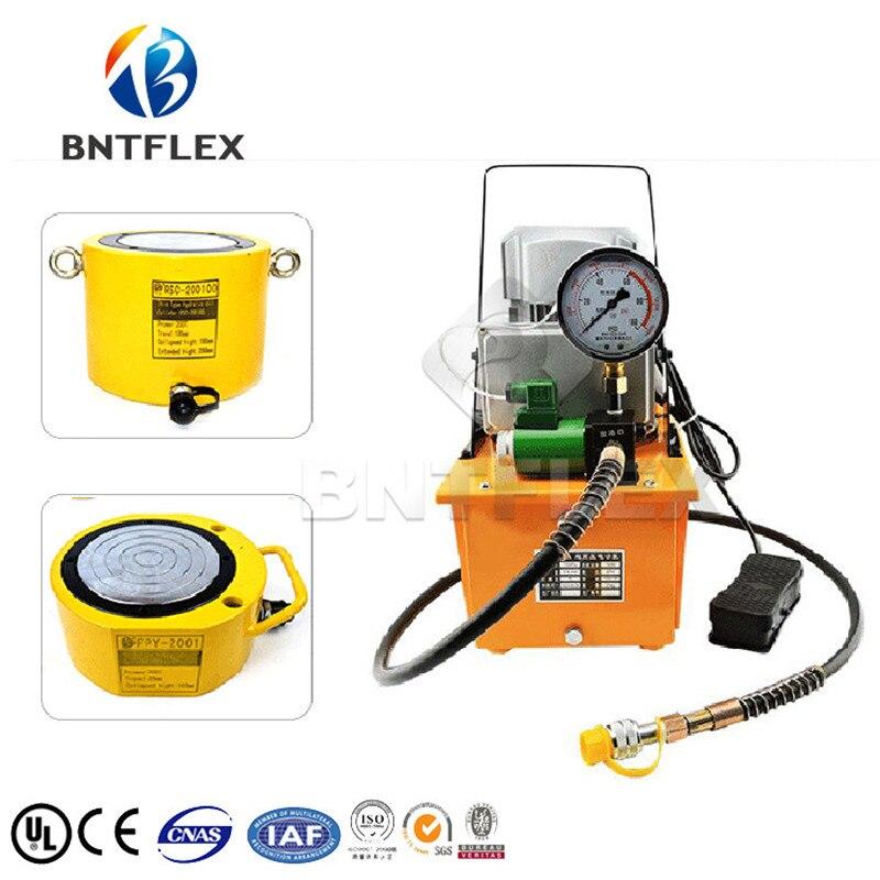 (200 T voyage 100mm) vérin hydraulique + CP63A pompe hydraulique manuelle