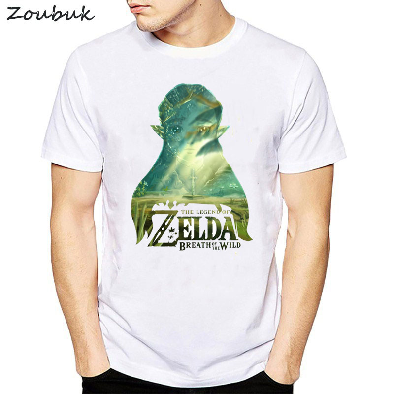 The Legend Of Zelda T Shirt Men cartoon graphic print tshirt mens summer white short sleeve t-shirt cool tops tee plus size