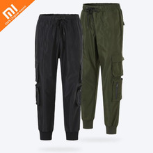 Original xiaomi mijia ULEEMARK ferramental calças 100% dos homens de nylon confortável calça casual calças soltas de multi-bolso moletom QUENTE