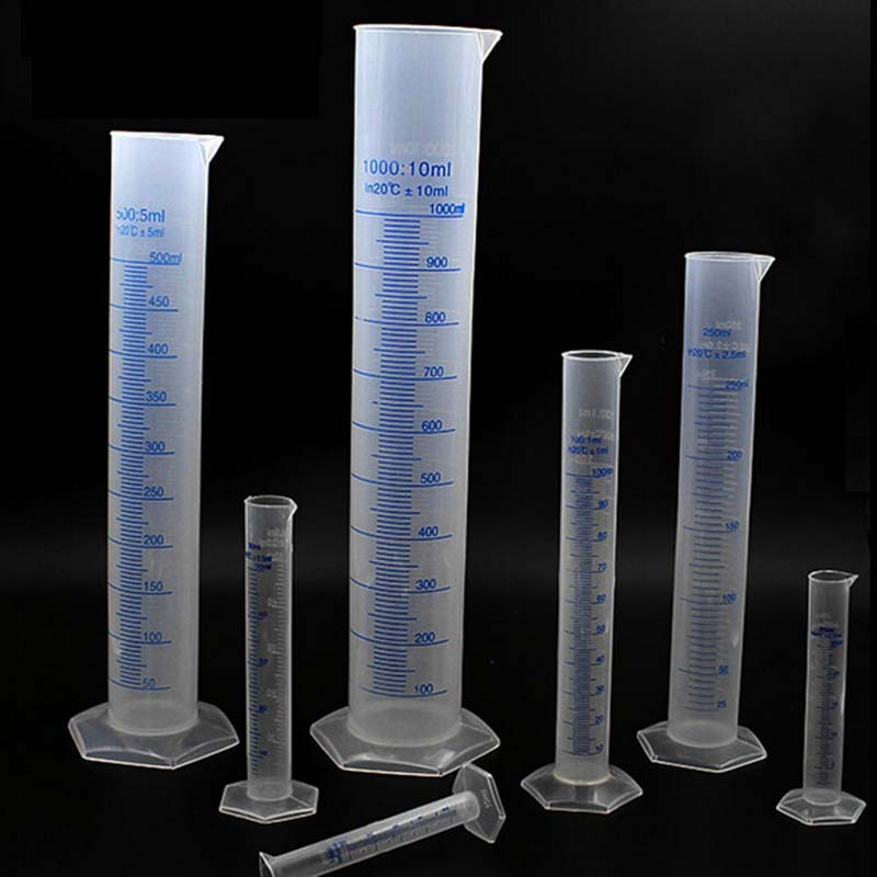 100ml Plastic Measuring Cylinder Graduated Cylinders For Lab Supplies Laboratory Tools
