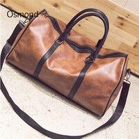 PU Leather Travel Bag Sport Gym Bags Fitness Duffel Tote Large Capacity Traveling Shoulder Handbag Outdoor Luggage Black Brown