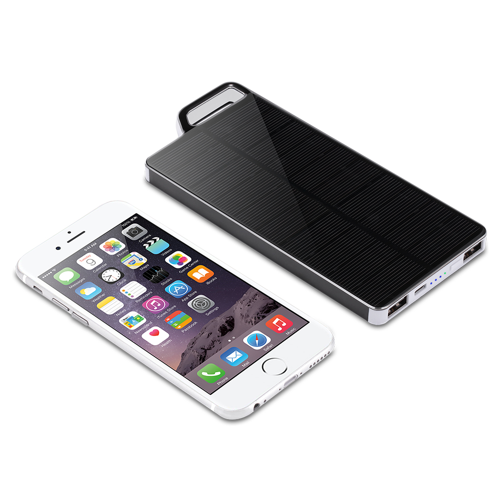 2018 New Design PowerGreen Hook Design Portable 10000mAh Solar Power Bank Solar Panel Charger External Battery for iPhone