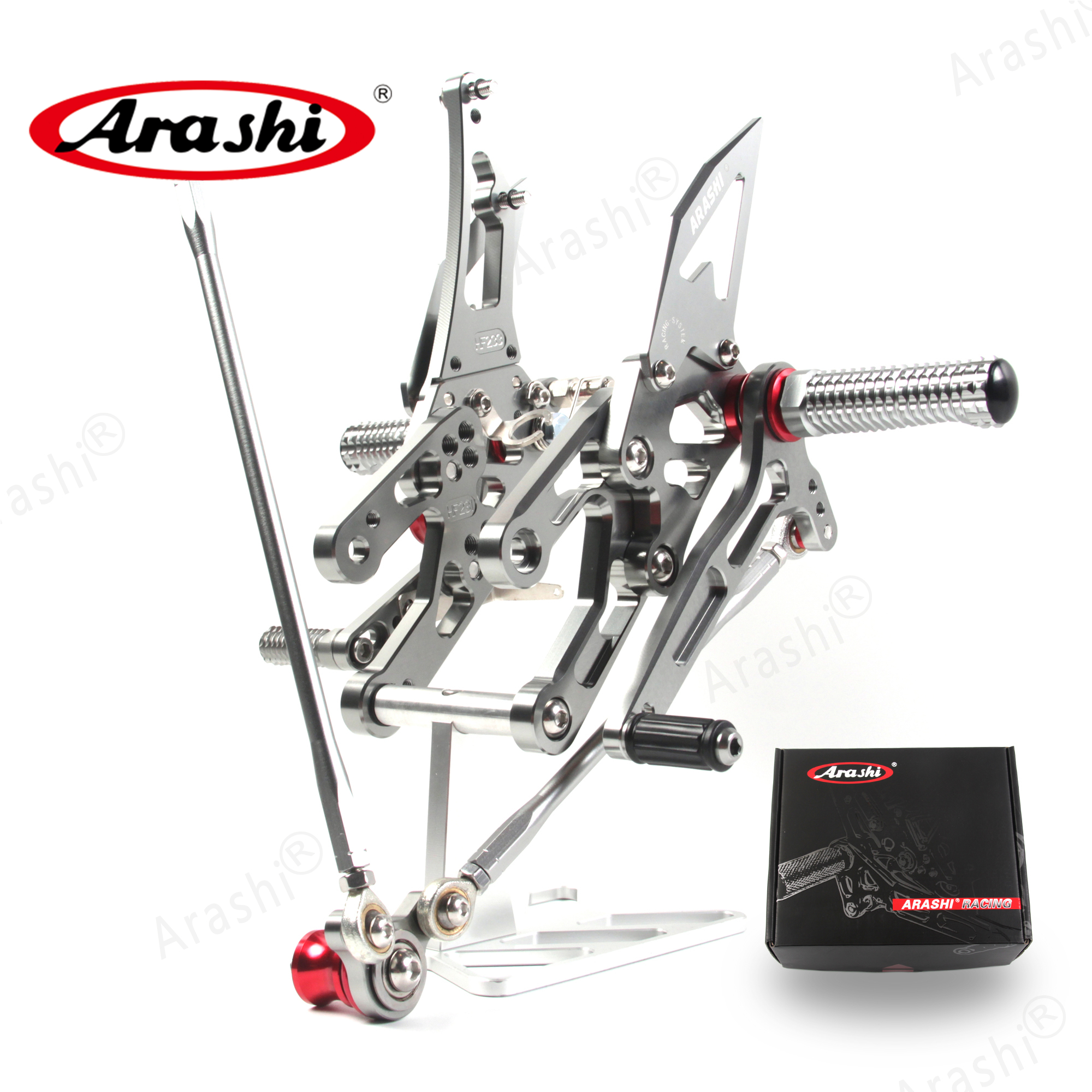 ARASHI Rider Rearset For HONDA CBR1000RR 2004-2007 CBR 1000 2004 2005 2006 2007 CNC Adjustable Footrest Footpegs Foot Peg