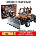 Nueva Lepin 20019 2088 unids Technic Serie Ultimate El Mecánico de Camiones Unimogu Conjunto de Bloques de Construcción Ladrillos de Juguetes Educativos 8110