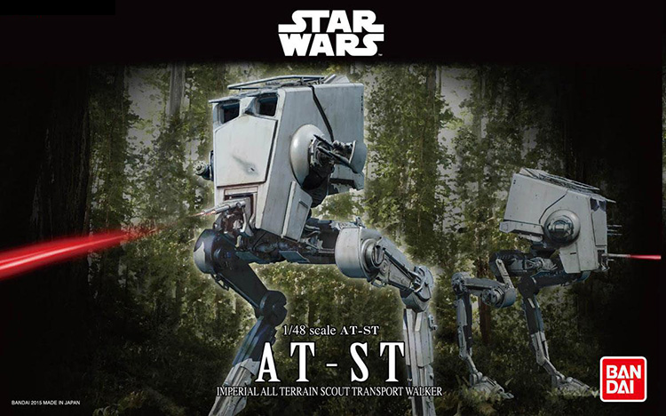 2015 New Genuine Bandai 1:48 Scale Star Wars AT-ST imperial all terrain scout transport walker Plastic Model Building DIY Toys 2015 new genuine bandai 1 48 scale star wars snow speeder modified incom t 47 airspeeder plastic model building kits diy toys