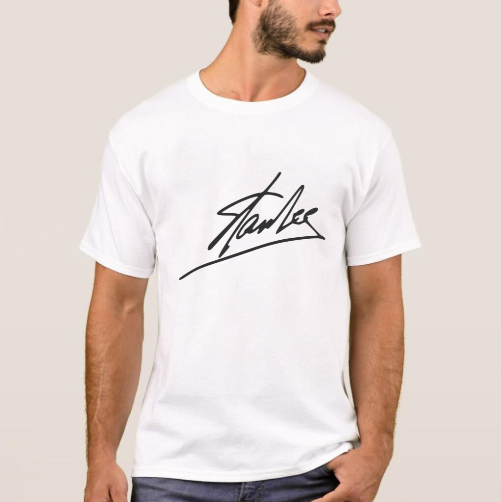1fe79fdb Cheap T-Shirts, Buy Directly from China Suppliers:Stan Lee Signature T Shirt