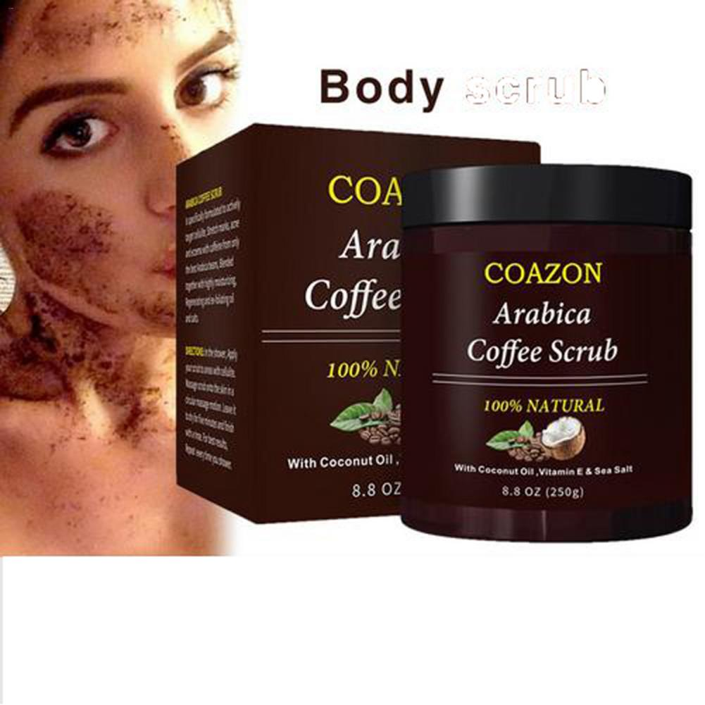 250g Coffee Scrub Body Scrub Cream Facial Dead Sea Salt For Exfoliating Whitening Moisturizing Anti Cellulite Treatment Acne 2