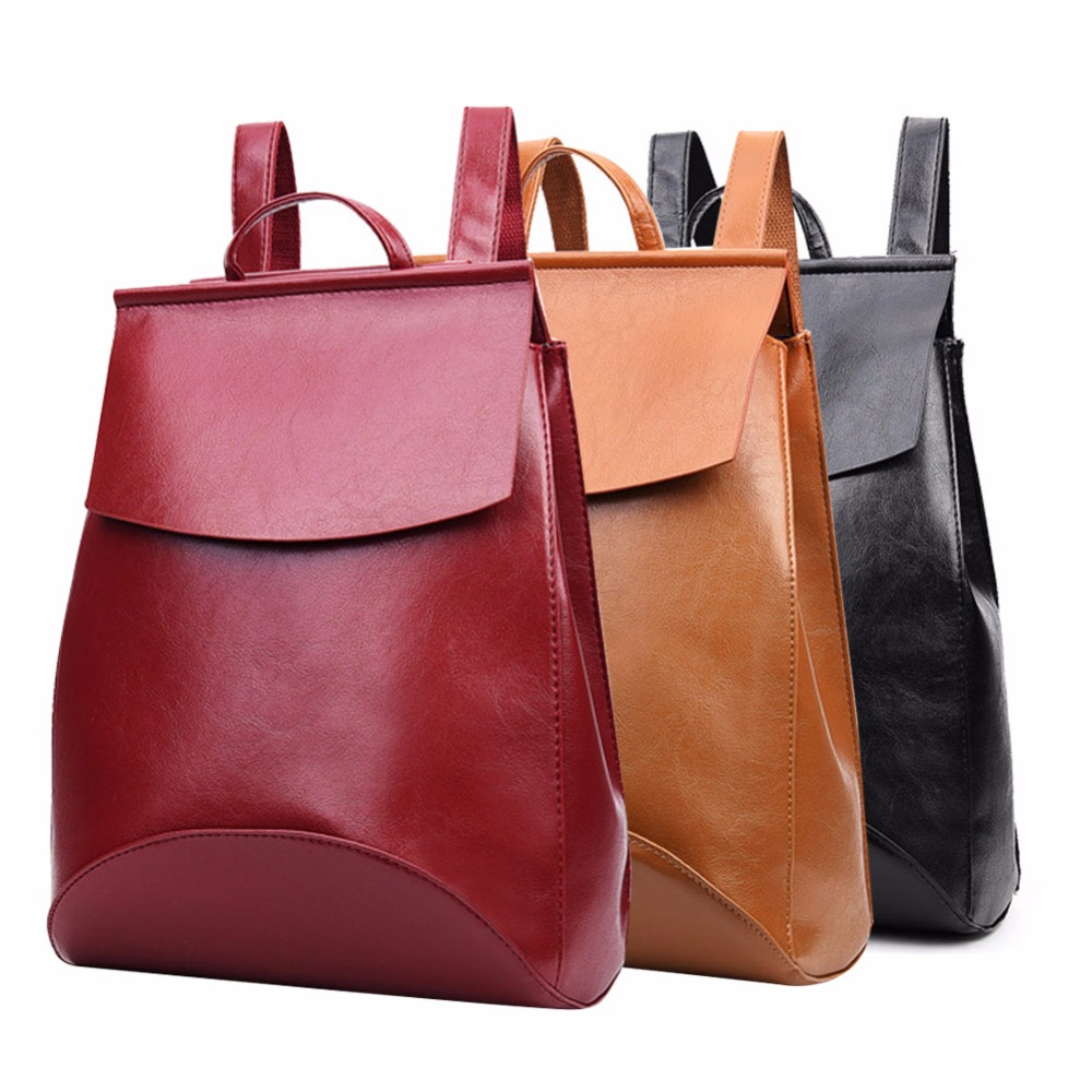 THINKTHENDO new women backpack famous brands school bags women leather backpacks travel bags travel bags ladies