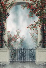 Laeacco Arch Door Flowers Fantastic Fairy Tale Baby Photography Backgrounds Customized Photographic Backdrops For Photo Studio