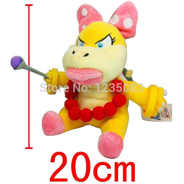 WENDY KOOTIE PIE 20cm SUPER MARIO BROS KOOPA BOWSER KOOPALINGS PLUSH DOLL Animal Doll For Kids Baby Gift(China)