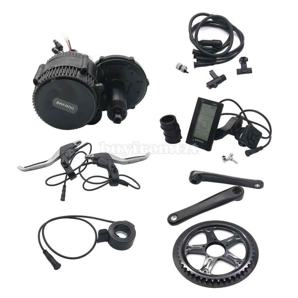 BAFANG BBS02 48 В 750 Вт середине приводной двигатель Электрический велосипед Conversion Kit C965 ЖК дисплей Дисплей