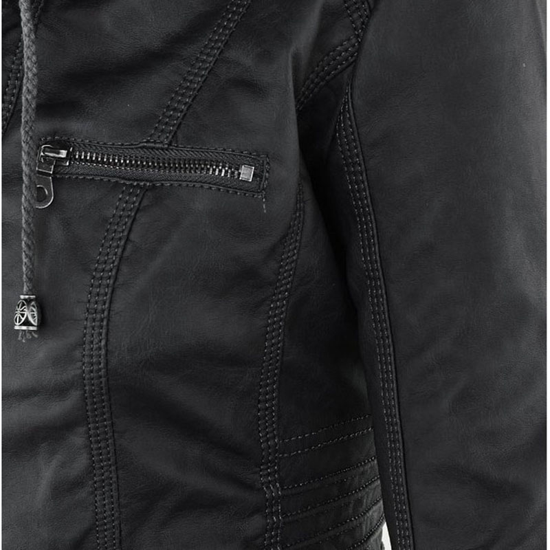 HTB1PjNQa1L2gK0jSZPhq6yhvXXaP Faux Leather Jacket Women 2021 Basic Jacket Coat Female Winter Motorcycle Jacket Faux Leather Suede PU Zipper Hoodies Outerwear