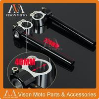 Universal Billet 40MM Adjustable Handlebars Handle Bars Clipons Clip On Ons Motorcycle Racing