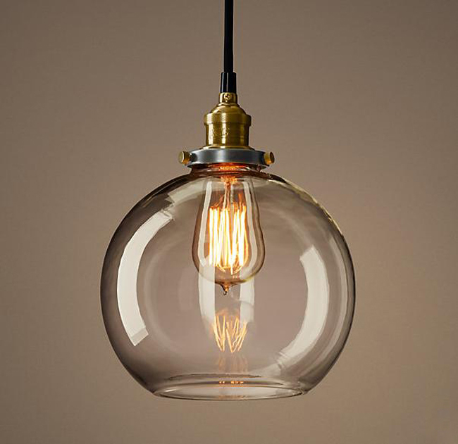 modern kitchen pendant lights vintage loft industrial american lustre glass edison 7732
