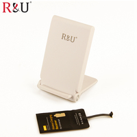 R & U 3 Spulen Qi Wireless-ladegerät Pad Standard + Drahtlose Ladegerät empfänger für LG G3 Beat Optimus 2X Optimus 3D sony Xperia Z5