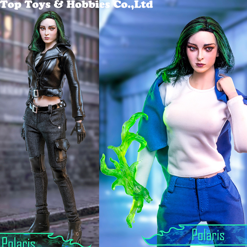 Full Set 1/6 The Gifted Lorna Dane Polaris Magnetic Magneto daughter Female Figure Collection Toys  Action Figure