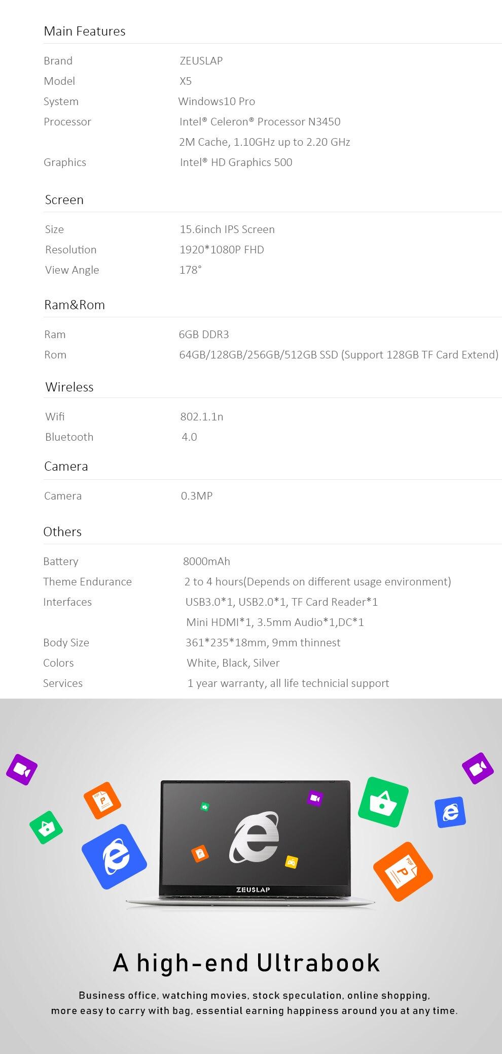X5-N3450 SSD
