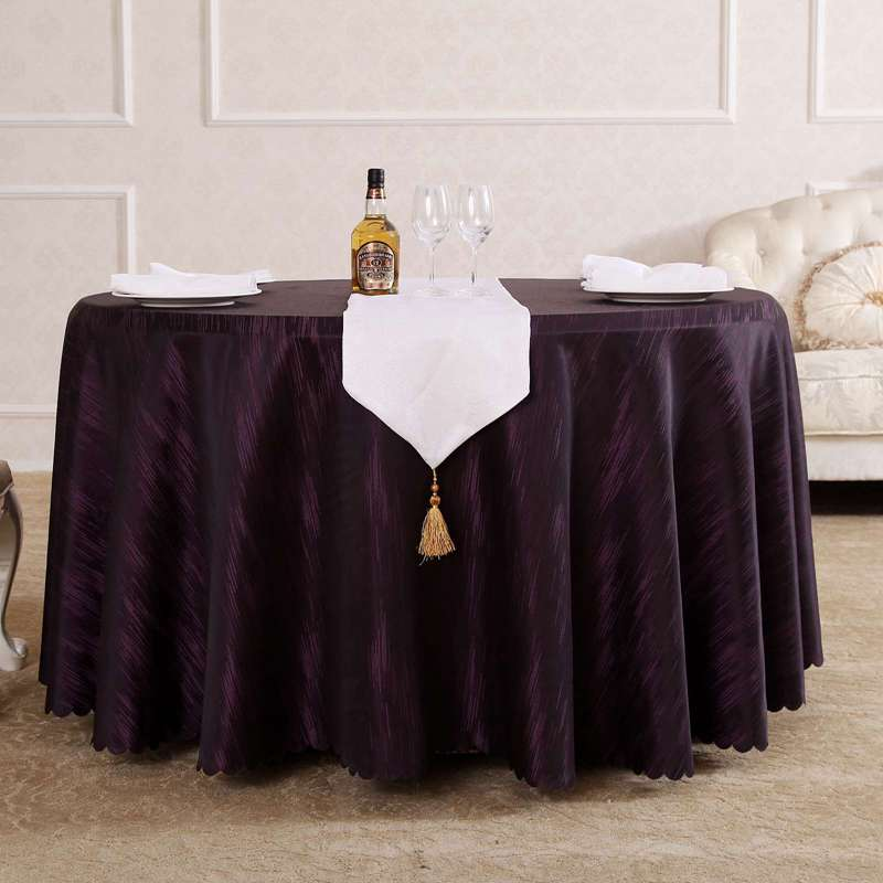 Modern Fashion Purple Rain Round Rectangle Square Microwave Tablecloths  Hotel Dining Tablecloth On The Table(