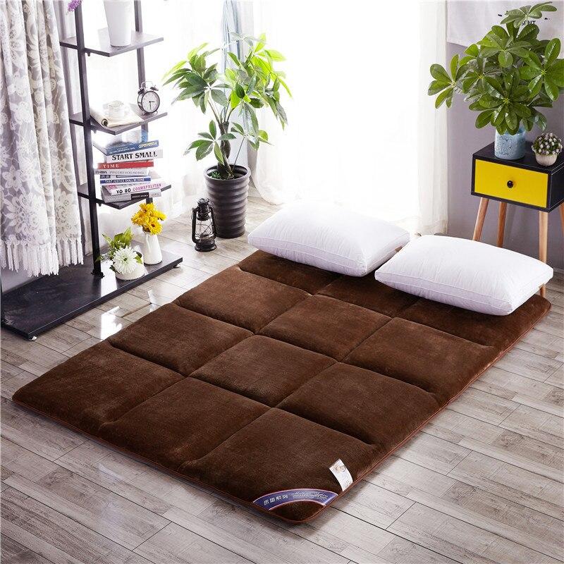 Hiver plus chaud en peluche plus épais matelas Double lit tapis Tatami matelas multi-taille anti-dérapant matelas étudiant dortoir lit tapis