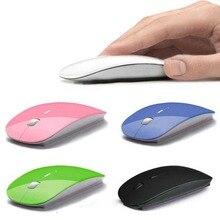 Горячая компьютерная мышь Мыши для ноутбука ноутбук! Ультра тонкий 2,4G Оптический беспроводной приемник usb-мыши Air беспроводная мышь