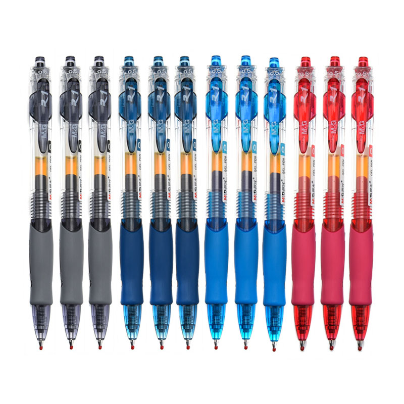 12pcs/box M&G GP1008 creative press pen 0.5mm student office special neutral