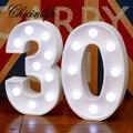 Светодиодный ночник Chicinlife с цифрами 30/40/50/60, 2 шт., для взрослых, с днем рождения, юбилей, вечерние украшения