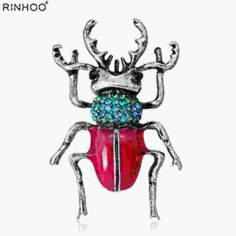 Trendy Strass Beetle Spille Unisex Smalto Spilla Spille Modo Insetto Cappotto Del Vestito Per Le Donne degli uomini Dei Monili Spilla Regalo