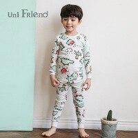 2 7yrs 100 Cotton Girls Pajamas 2017 New Unifriend Pajamas For Kids Clothes Autumn Boy Pijamas