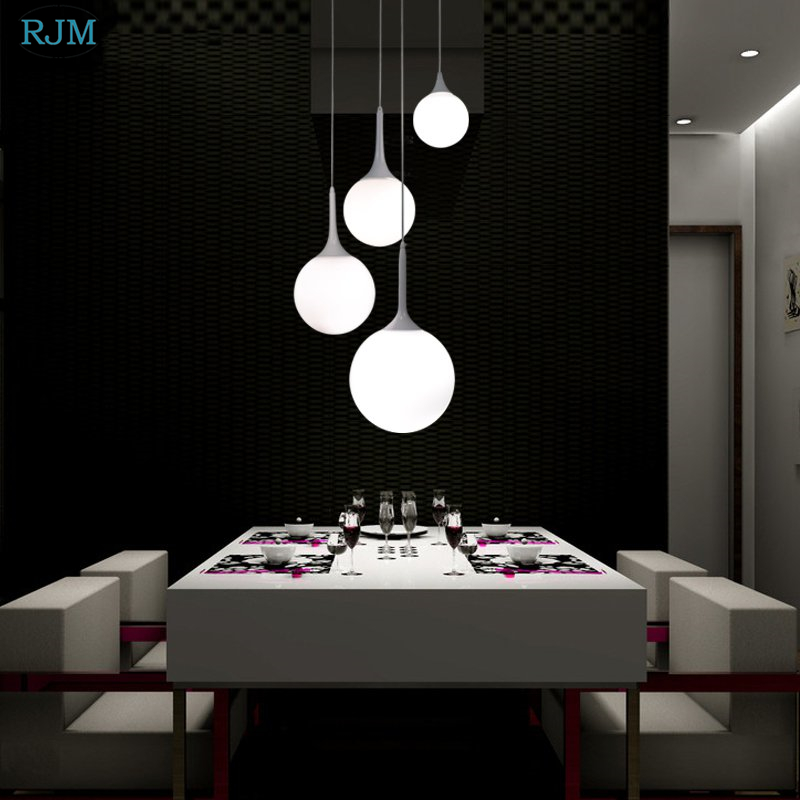 Modern Minimalist Glass Spherical Pendant Lights Creative Personality Nordic Hang Lamp Restaurant Living Room Bedroom Lightings