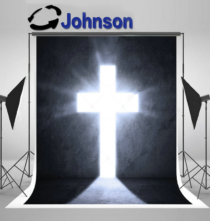 christian Opened Door Bright Light Cross Christ photo backdrop Vinyl cloth High quality Computer print wall background