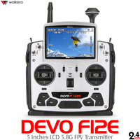 New Generation Walkera DEVO F12E Perfect FPV 12CH RC Transimitter with 5in LCD Screen Mode1/2 Support 2.4GHz/5.8G 32CH Telemetry