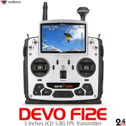 Nowa generacja Walkera DEVO F12E doskonały nadajnik FPV 12CH RC z 5-calowym ekranem LCD Mode1/2 obsługa telemetrii 2.4 GHz/5.8G 32CH
