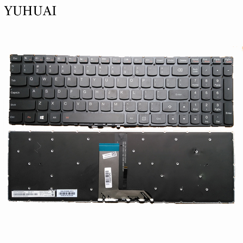 New US laptop keyboard for Lenovo IdeaPad 700-15ISK 700-15 US Black laptop Keyboard Backlight new us for fujitsu lifebook a544 ah544 ah564 us a544 ah544 ah564 laptop keyboard p n cp648386 03 mp 13k33us 930 cnyacp648386